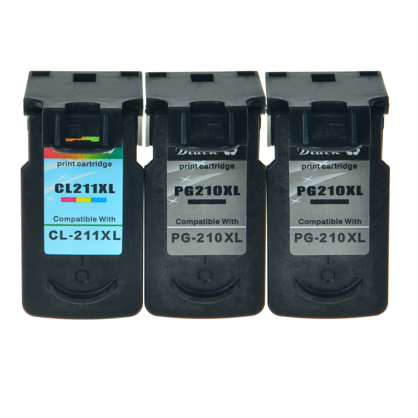 2PK PG210XL 1PK CL211XL Black Color Ink Cart For Canon PIXMA MP495 MP499 MP260