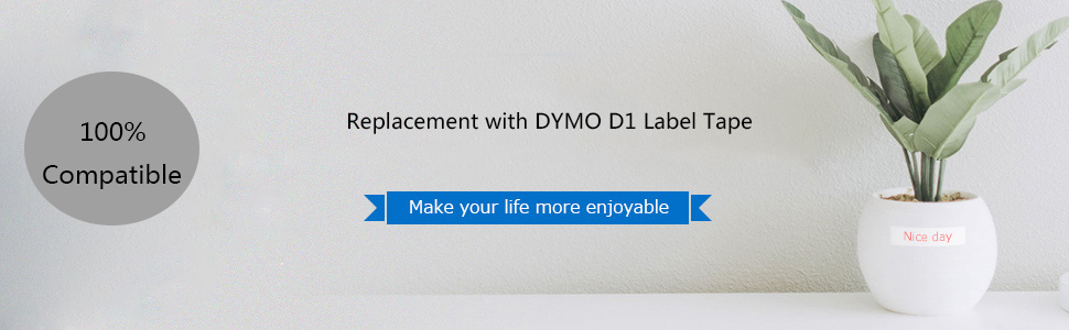 """45013-45024 43613 40913 45803 Label Tape For DYMO D1 LabelManager 100 1//2/"""" 12MM"""