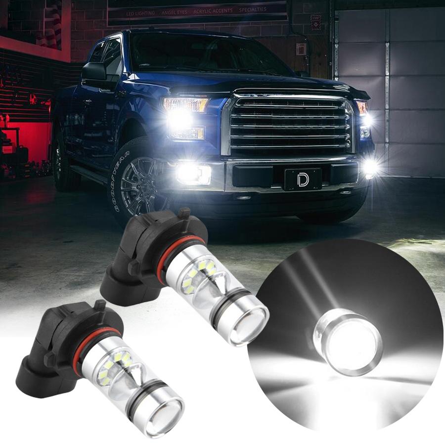 2x H10 9145 LED Fog Lights Fit For Ford F150 2002-2016 6000K White