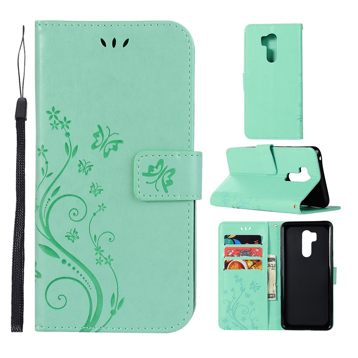 Magnetic Wallet Leather Flip Case Cover Stand Card Holder For Various LG Phones