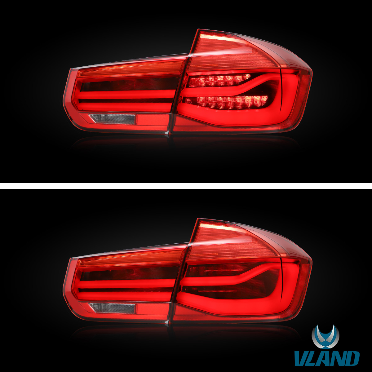 For 2012-2018 BMW F30 F35 F80 M3 Taillights Rear Lamp W