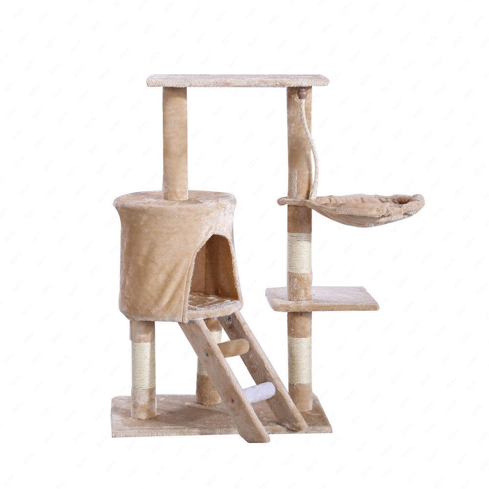 kitten cat tree scratcher scratch post climbing tower pet. Black Bedroom Furniture Sets. Home Design Ideas