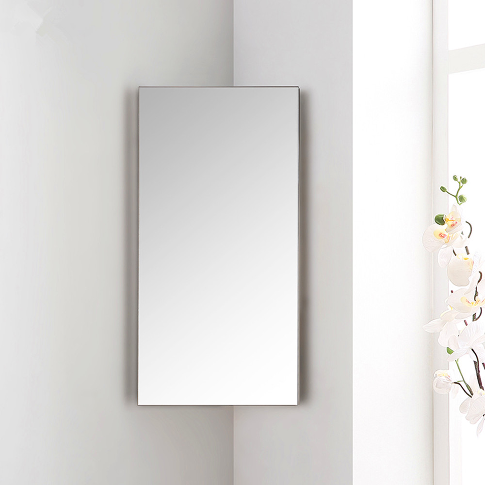 3 5 Wall Shelves Bathroom Corner Cabinet Mirror Stainless Steel Diaplay Unit Uk