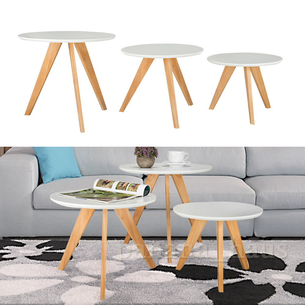 Details about panana modern design nest of 3 coffee table side tables living room furniture