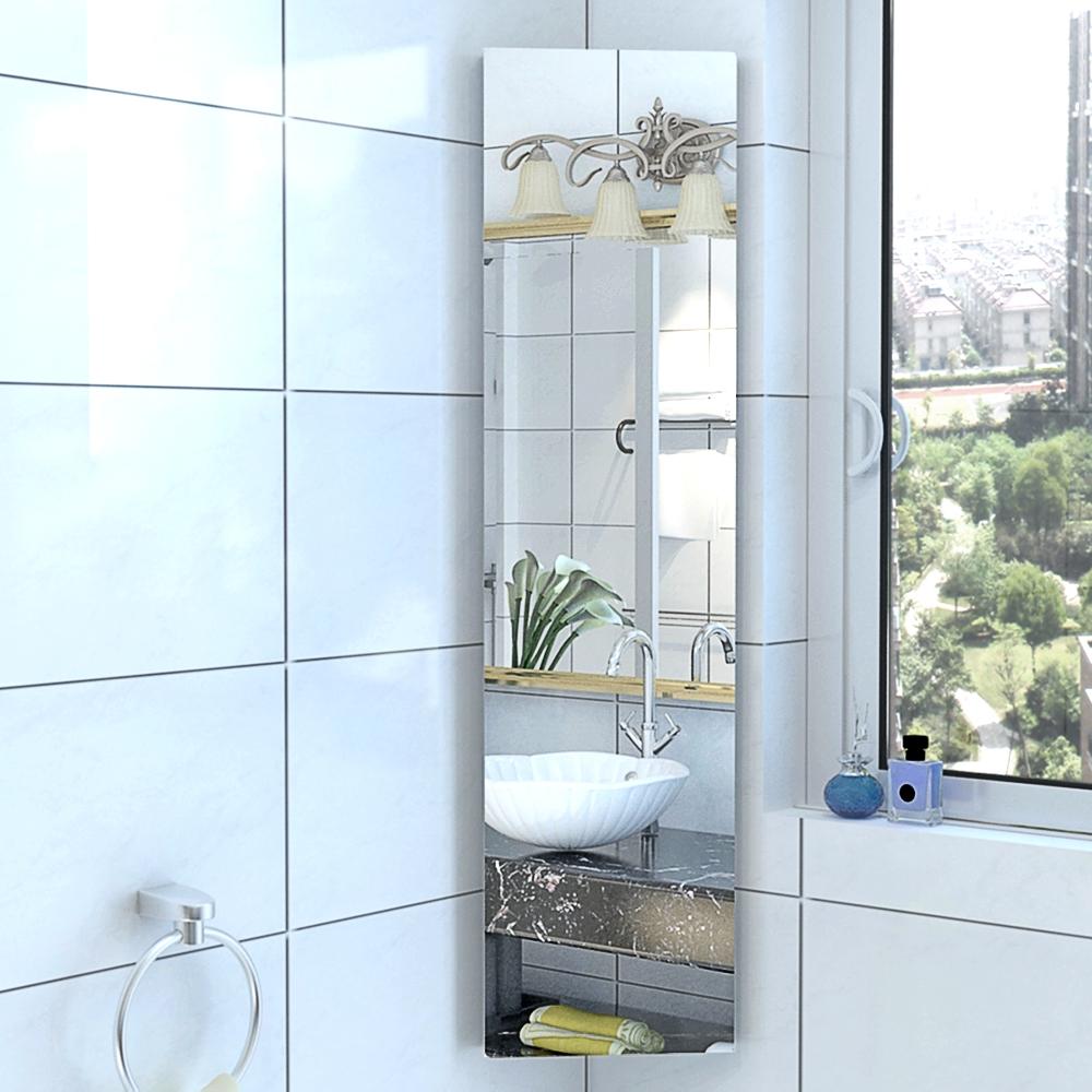 3/5 Wall Shelves Bathroom Corner Cabinet Mirror Stainless Steel ...