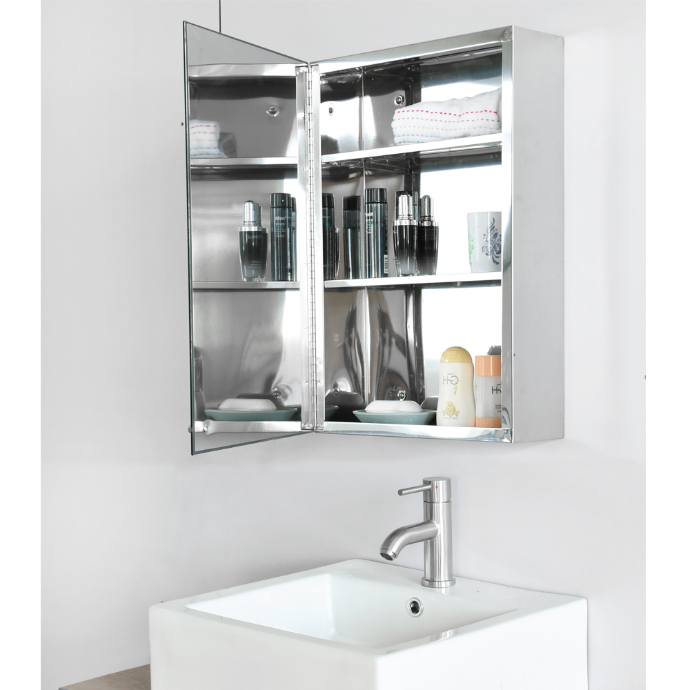 Panana Led Illuminated Bathroom Mirror Cabinet Shaver Demister