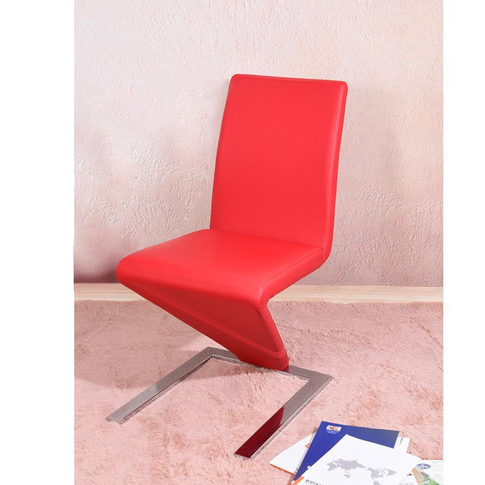 2x Kunstleder Stoff Esszimmerstuhl Z-Shape Stühle Hochlehner Stühle ...