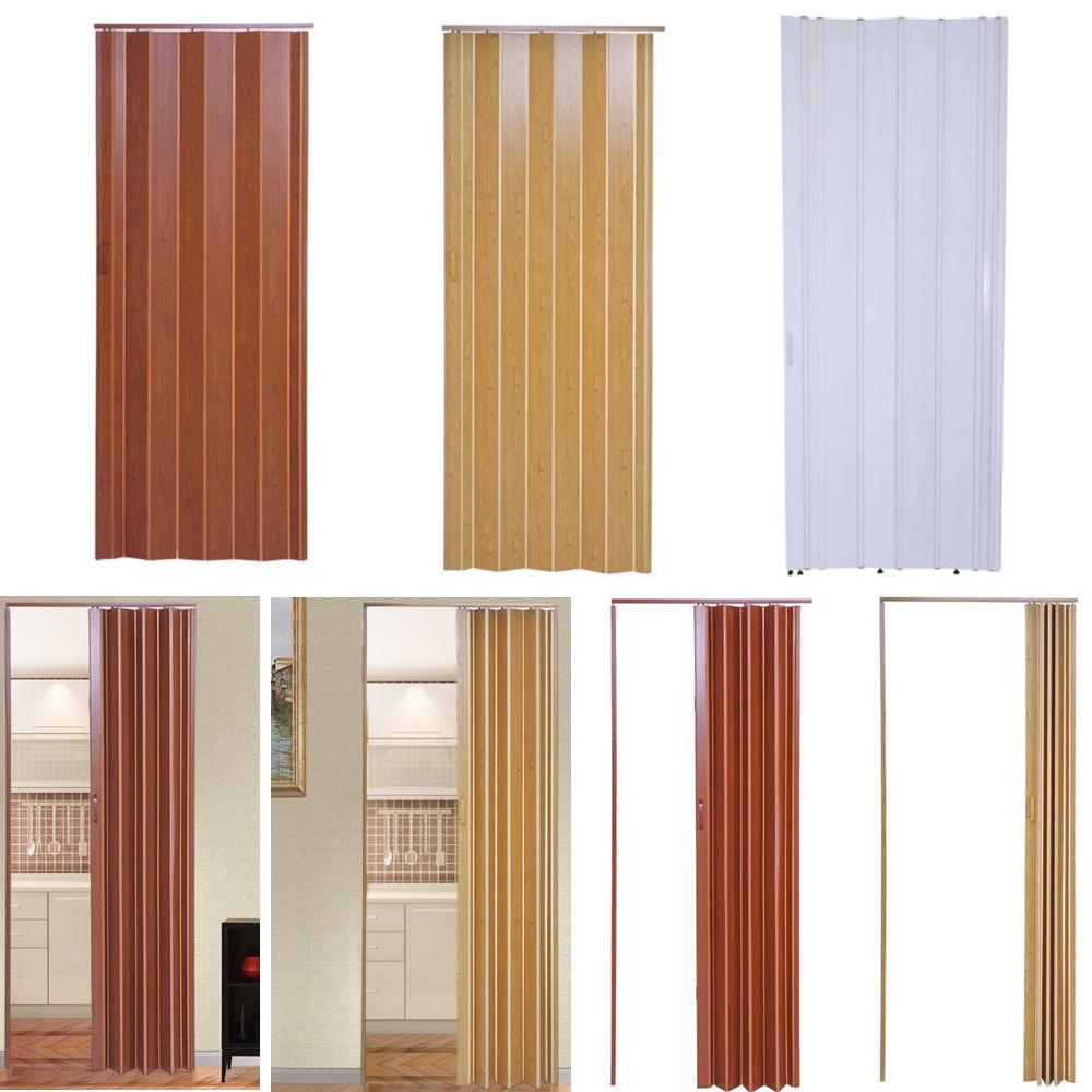 Plastic Folding Door PVC Gloss Washable Doors Sliding Panel ...
