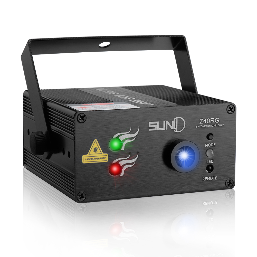 Details About Suny 3 Lens Laser Light Rg Led Lighting Projector Blue Xmas Dj Stage Red New