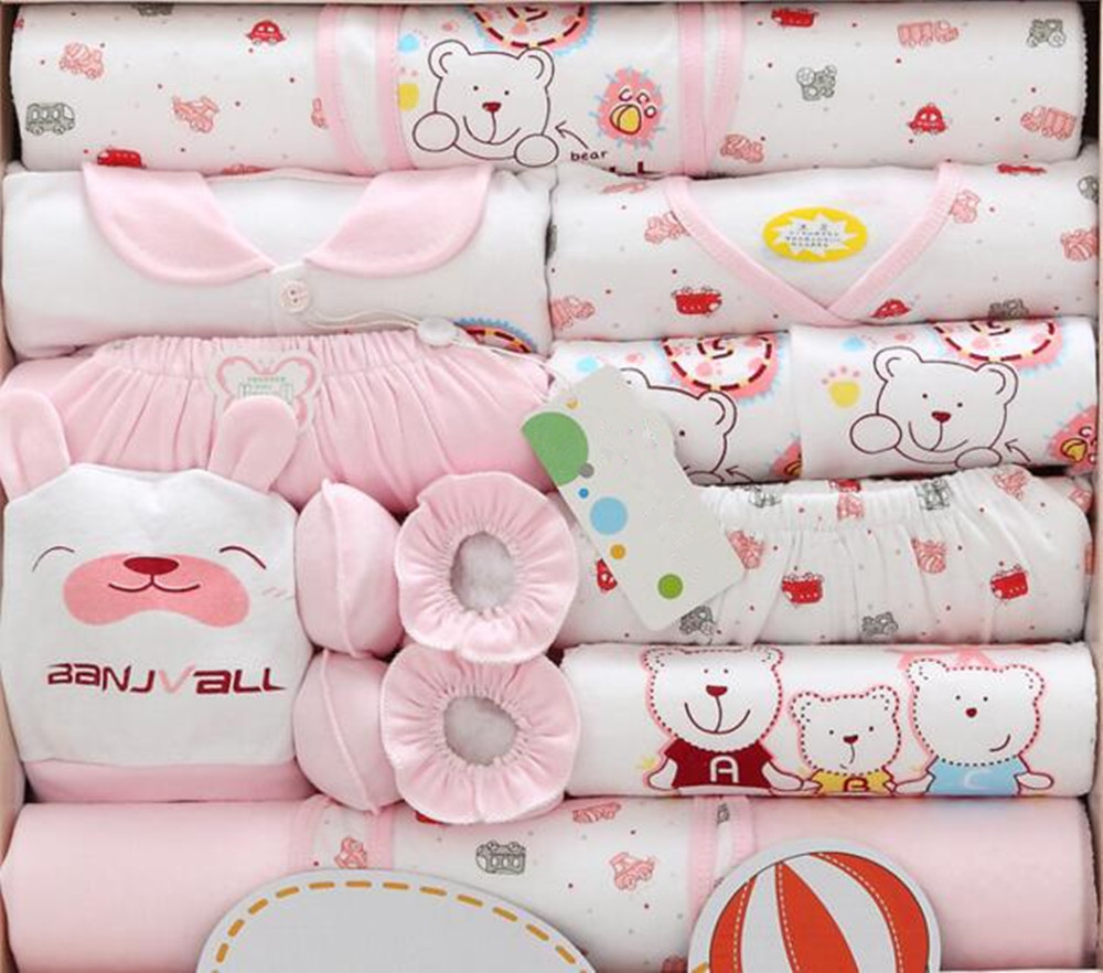 0971b8bc20a0 18pcs Newborn Baby Cute Bear Clothes Girls Boys Clothing Set infant ...