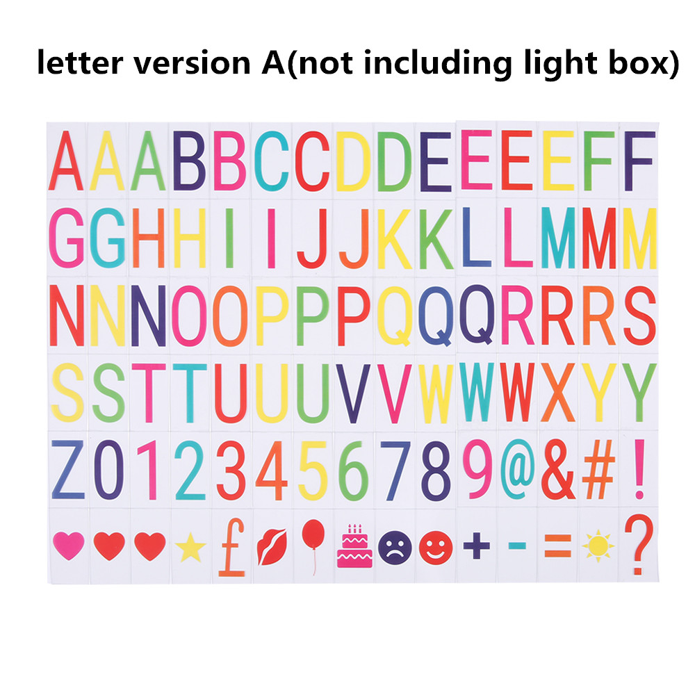 Details about A4 Cinematic Light Up Sign Box Cinema LED Letter Lamp Home  Party Wedding Decor