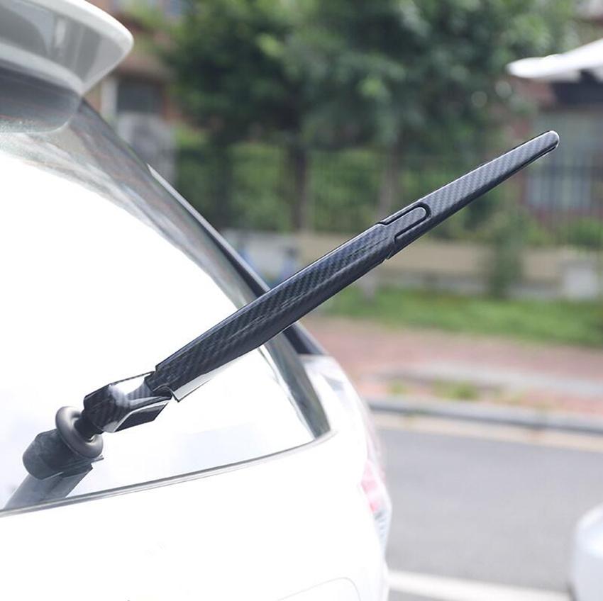 3P Carbon Fiber Rear Window Wiper Cover Trim For Nissan Rogue X-Trail 2014-2018