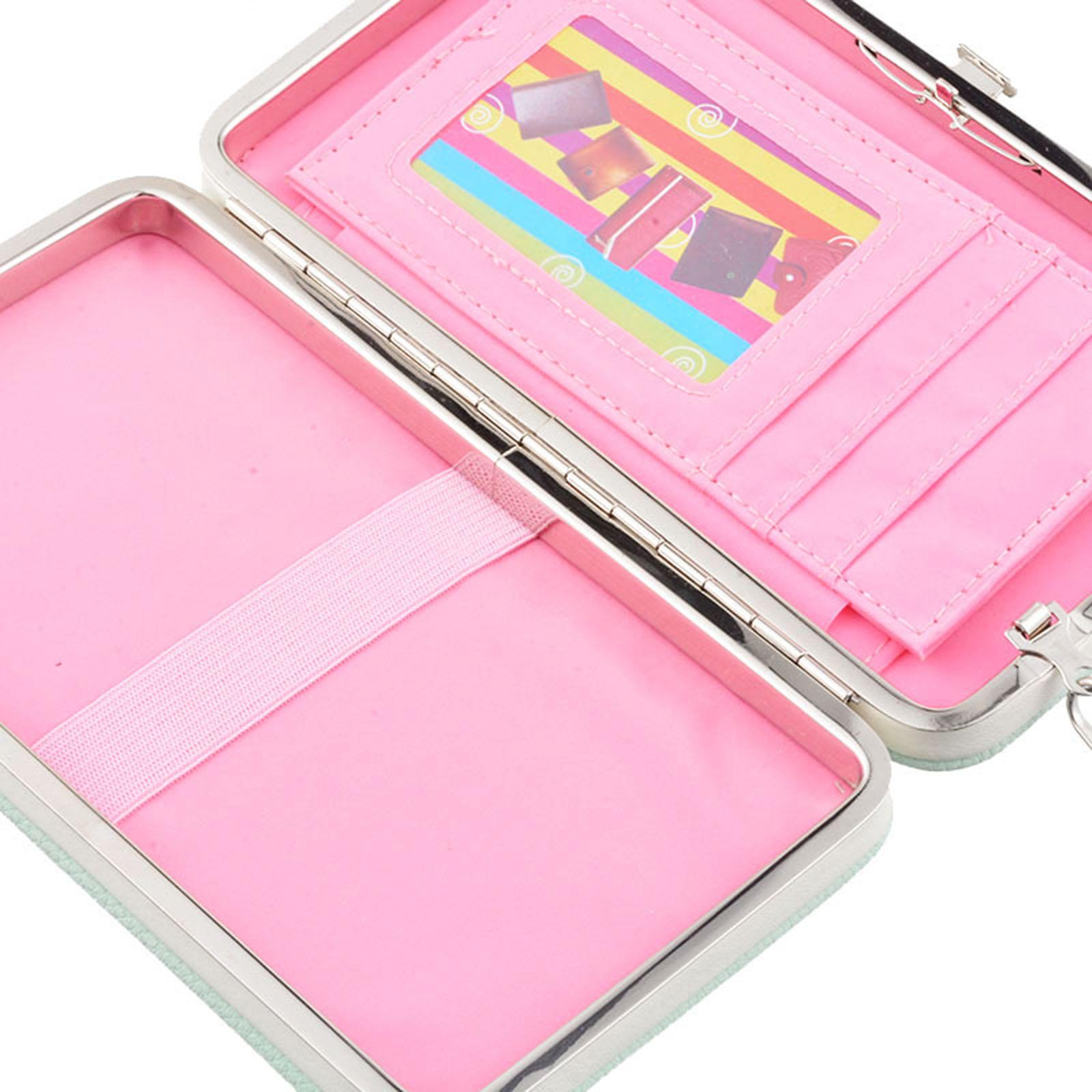 women lady pu leather wallet purse long card holder clutch box bag