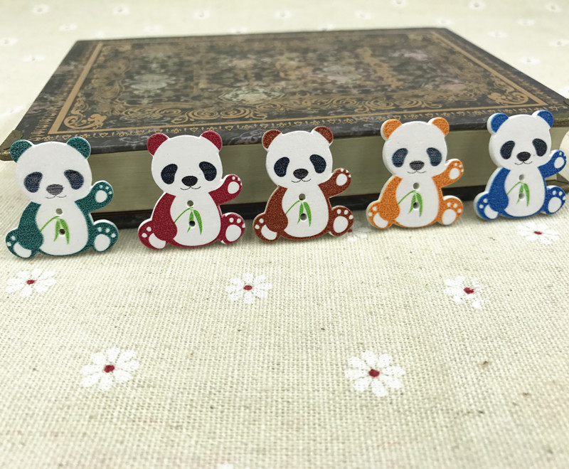 Panda Holz Tier Knopf/Knöpfe Mischen Nähen Wood Buttons 28mm | eBay