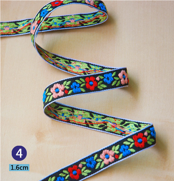 Vintage embroidery trim decorative flowers lace ribbon diy for Craft ribbons and trims
