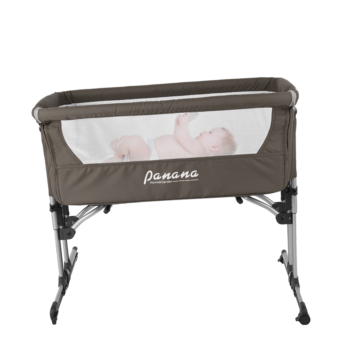 2 in 1 Baby Crib Swing Bedside Cot Bed Adjustable With Mosquito