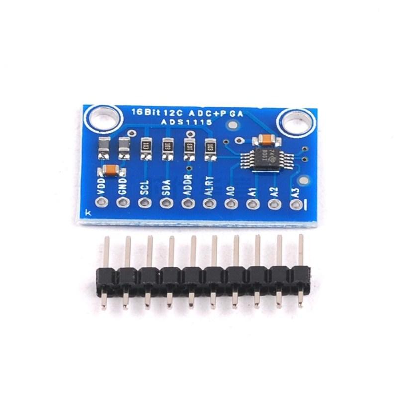 2pcs I2C ADS1115 16 Bit 16Bit ADC 4 channel Module Gain Amplifier
