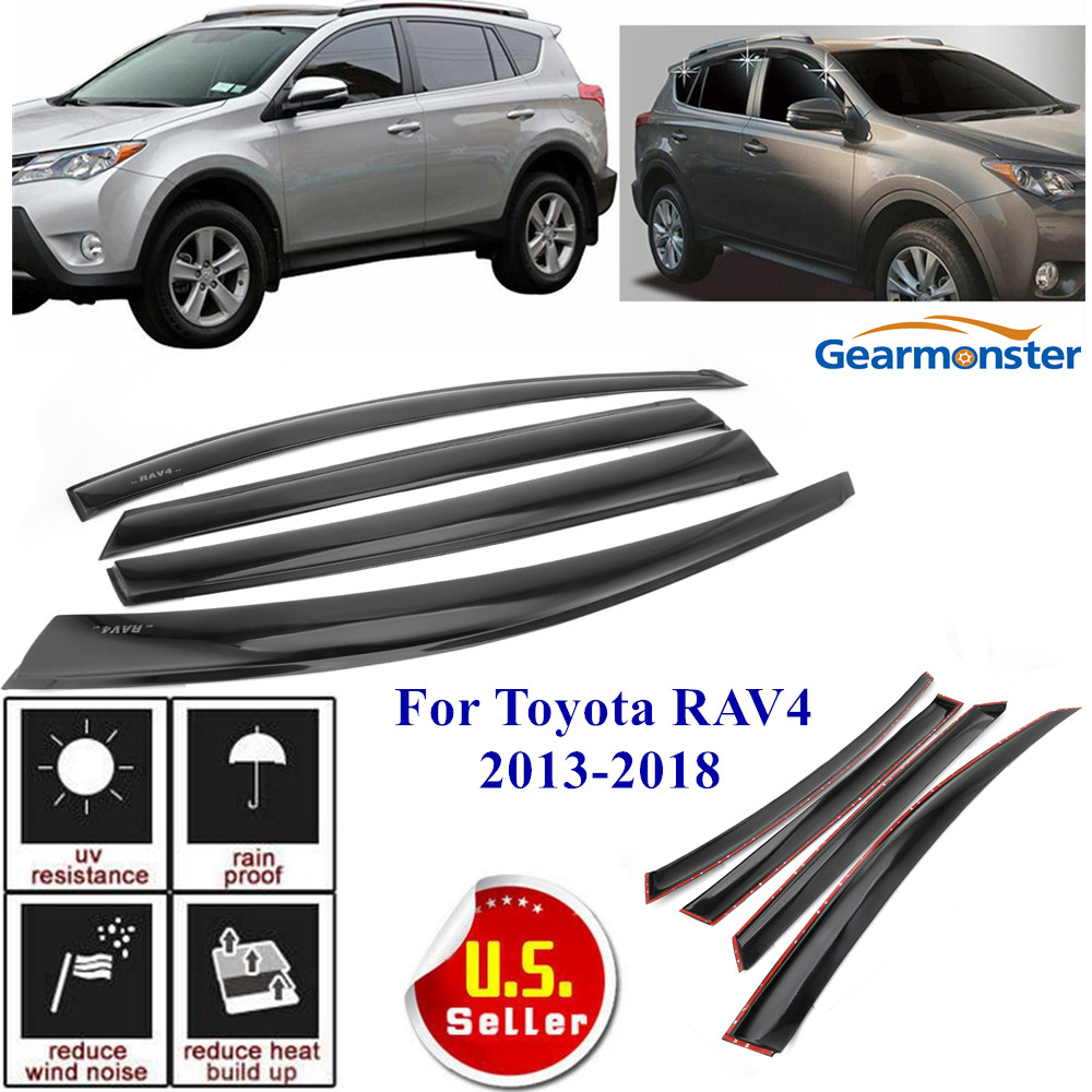 For Toyota RAV4 2013-2018 Smoke Window Visor Vent Rain Sun Deflectors Guard