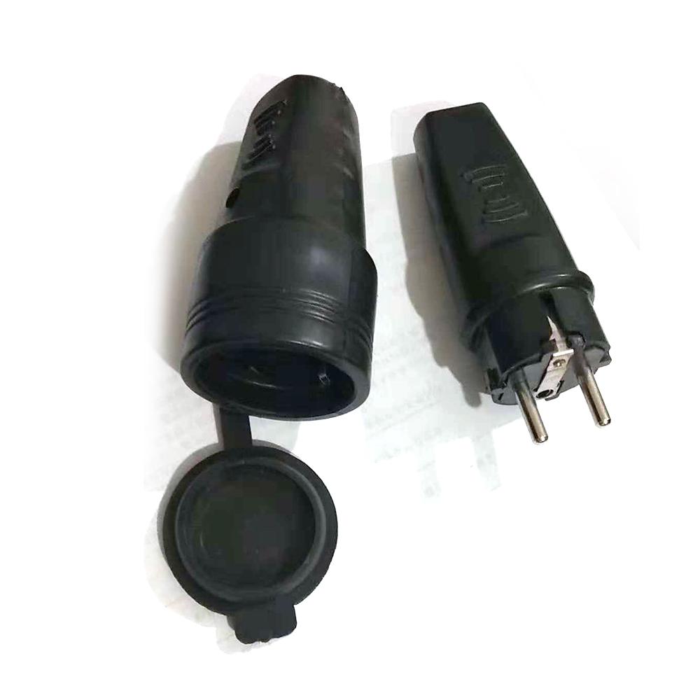 gummi stecker und gummi kupplung schukostecker schukokupplung ip44 n l de ebay. Black Bedroom Furniture Sets. Home Design Ideas