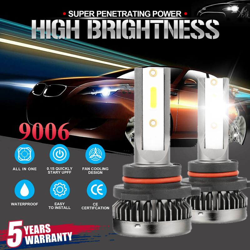 9006 HB4 4-Side 1800W 585000LM LED Headlight Hi//Lo Beam 6000K Fog Light White CC