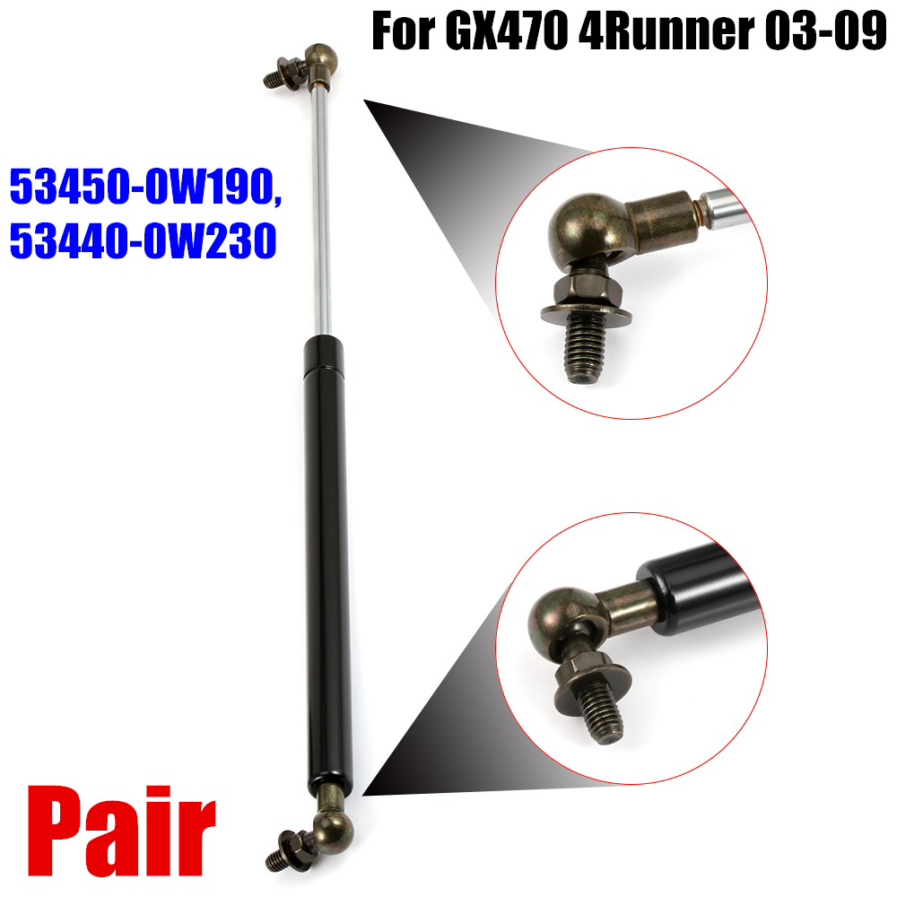 6228 Hood Lift Struts Supports Gas Cylinder Pair For Toyota 4Runner LexusGX470