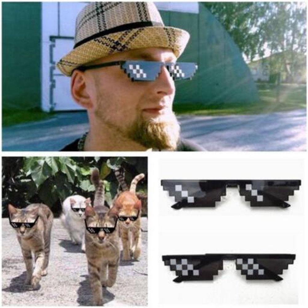 3e7cab81cdb Thug Life Glasses 8 Bit Pixel Deal With IT Sunglasses Unisex Sunglasses  Decor YG