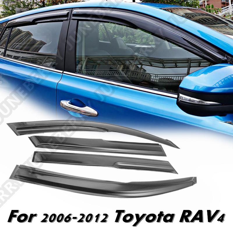JDM Vent Window Visor For Toyota RAV4 Rav-4 06-08 09 10 11 12 2006-2012 4 Door