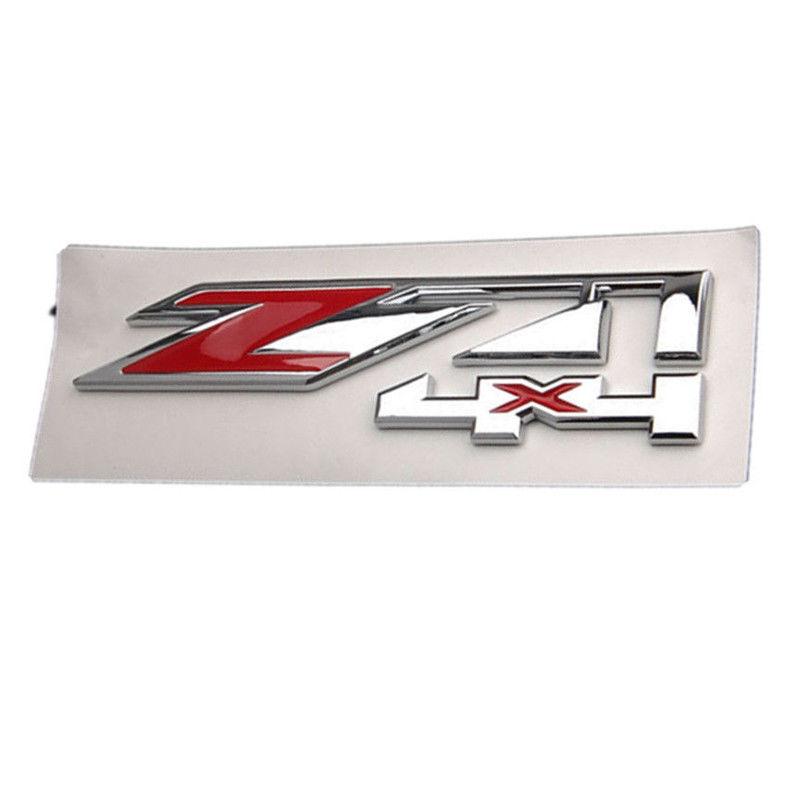 2 Red Chrome Z71 4x4 Emblem Badge For Chevy Silverado