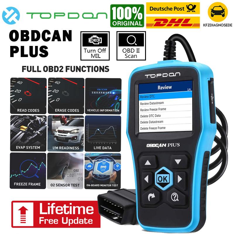 TOPDON Ultrascan PLUS KFZ Diagnosegerät Auto OBD2 Testgerät Scanner Codeleser DE