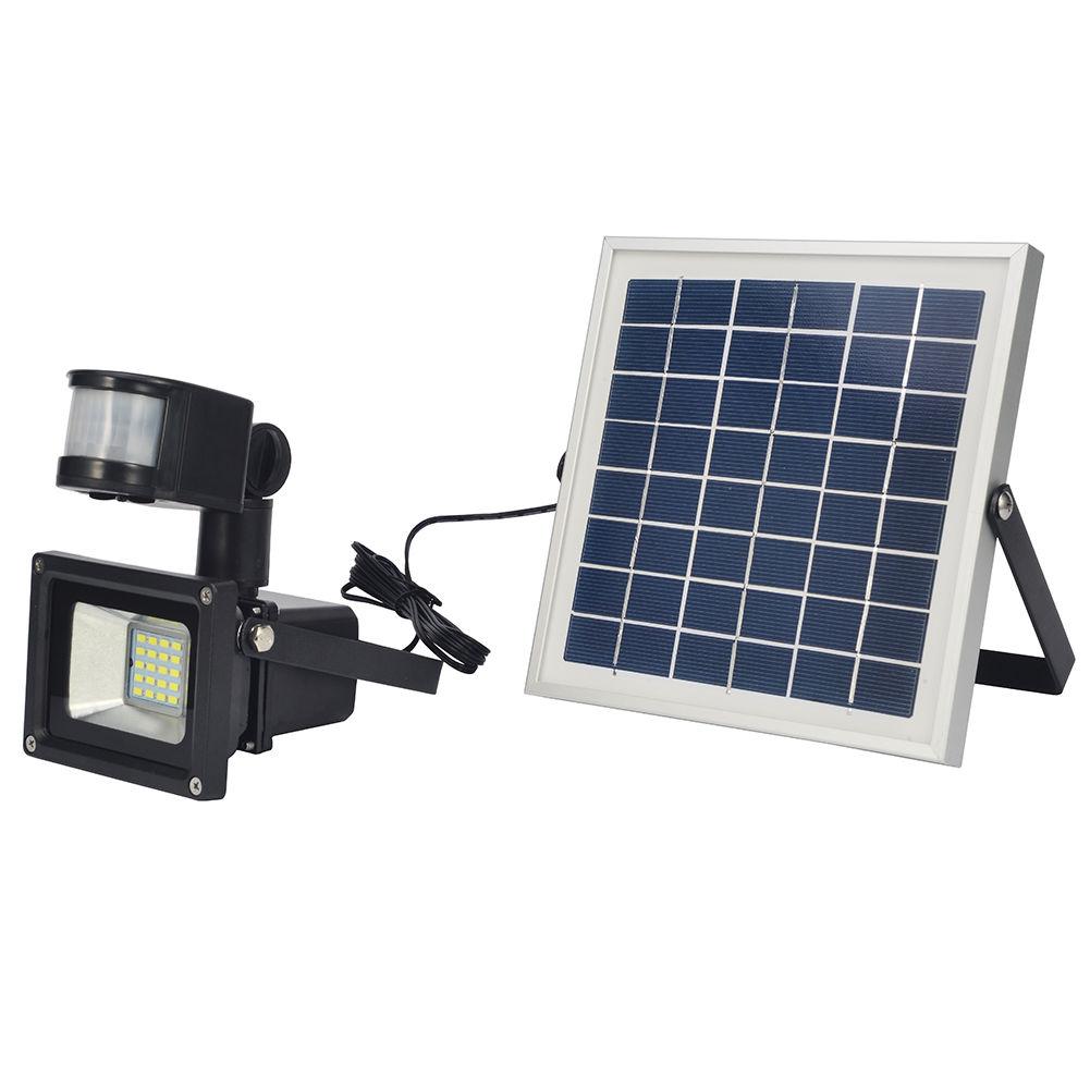 solar led fluter 10w 20w mit bewegungsmelder und akku flutlicht au en strahler ebay. Black Bedroom Furniture Sets. Home Design Ideas