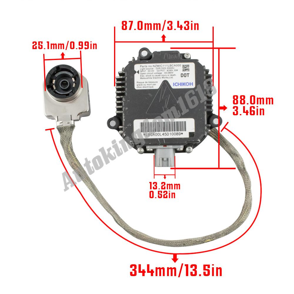 OEM 03-07 Infiniti G35 Coupe Xenon HID Headlight Ballast Igniter Control  Unit