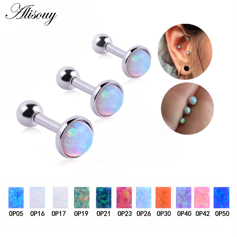 5 PCS Mixed any colors Gold Plated Labret Monroe Cartilage Tragus Earring Studs