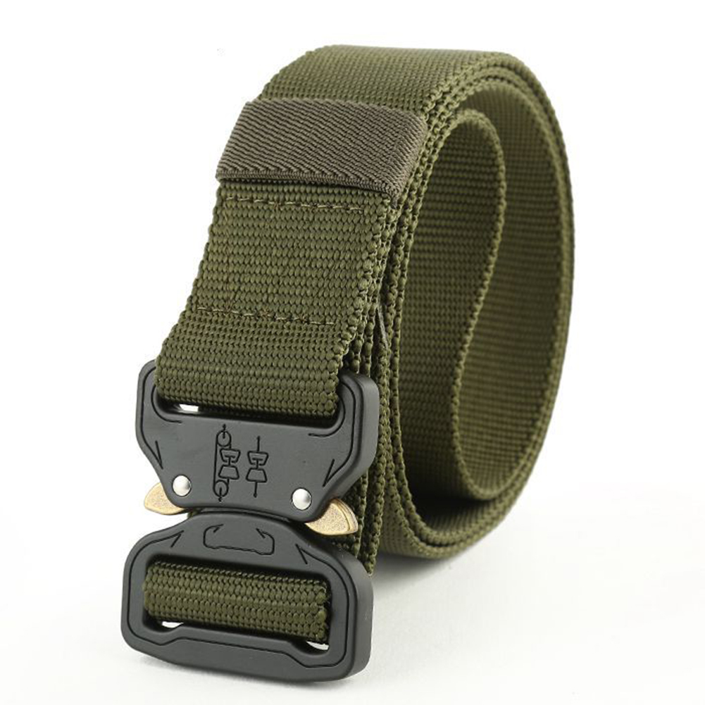 Men-039-s-Quick-Release-Military-Trouser-Belt-Army-Tactical-Canvas-Webbing