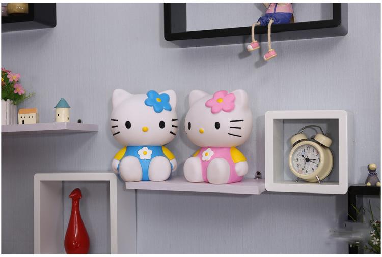 Cute Hello Kitty Silicone Vinyl Piggy Bank for Girls Birthday Gift Decoration