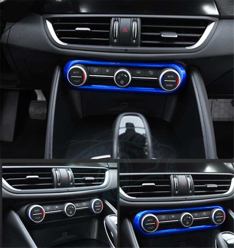 For Alfa Romeo Giulia 2017-2018 Blue ABS Interior Center