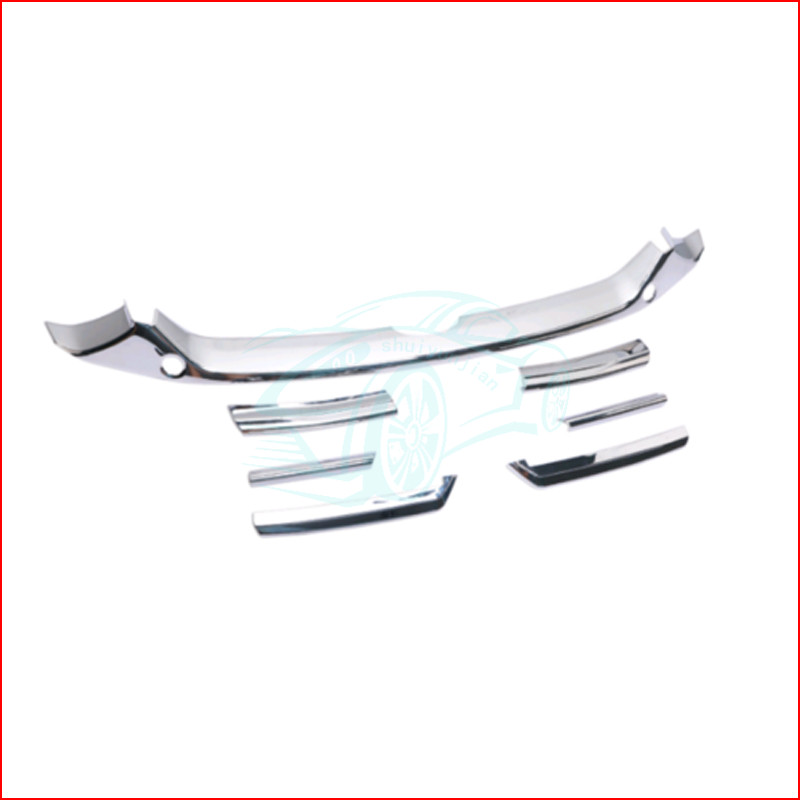 7PCS Car Front  Bumper Grill Grille Cover Strip Trim ABS Chrome For Accord 2018