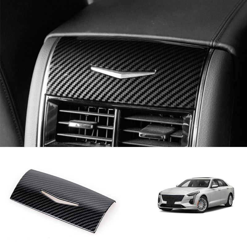 For Cadillac CT6 2016-2020 Carbon Fiber Rear Air Outlet