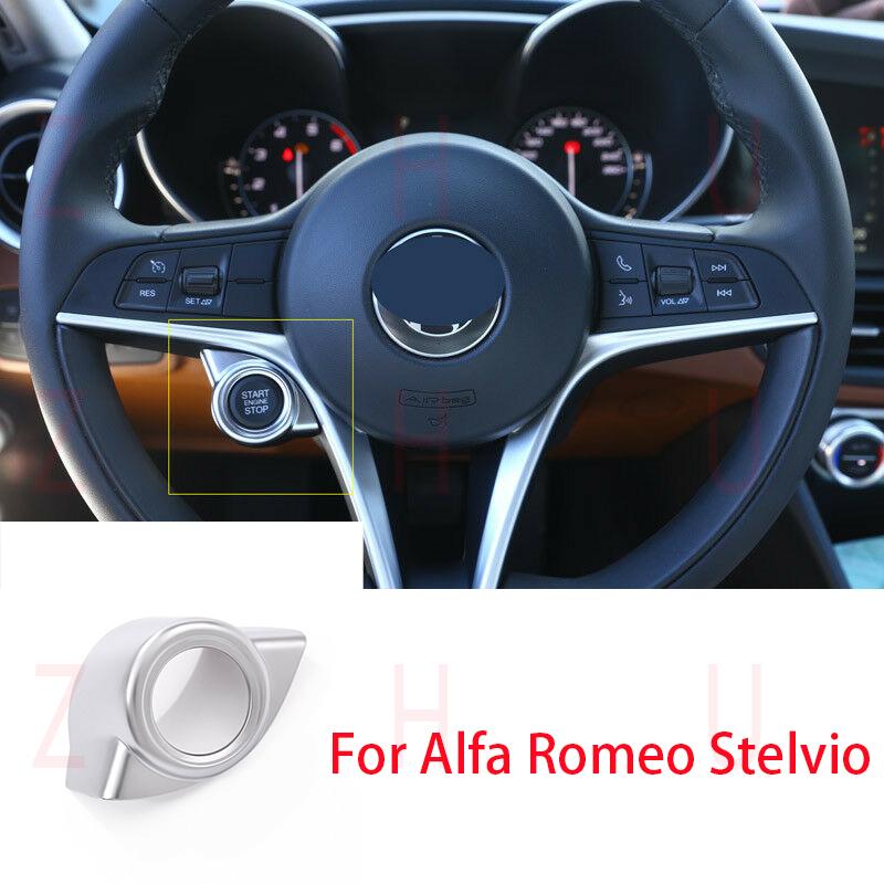 For Alfa Romeo Giulia Stelvio 2017 2018 1pcs Chrome Start