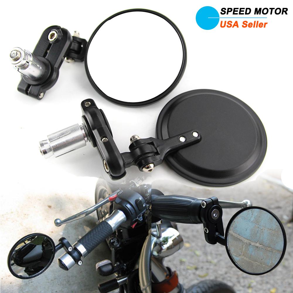Bike bicycle Handle Bar End Motorcycle Side Mirrors side mirror universel motor