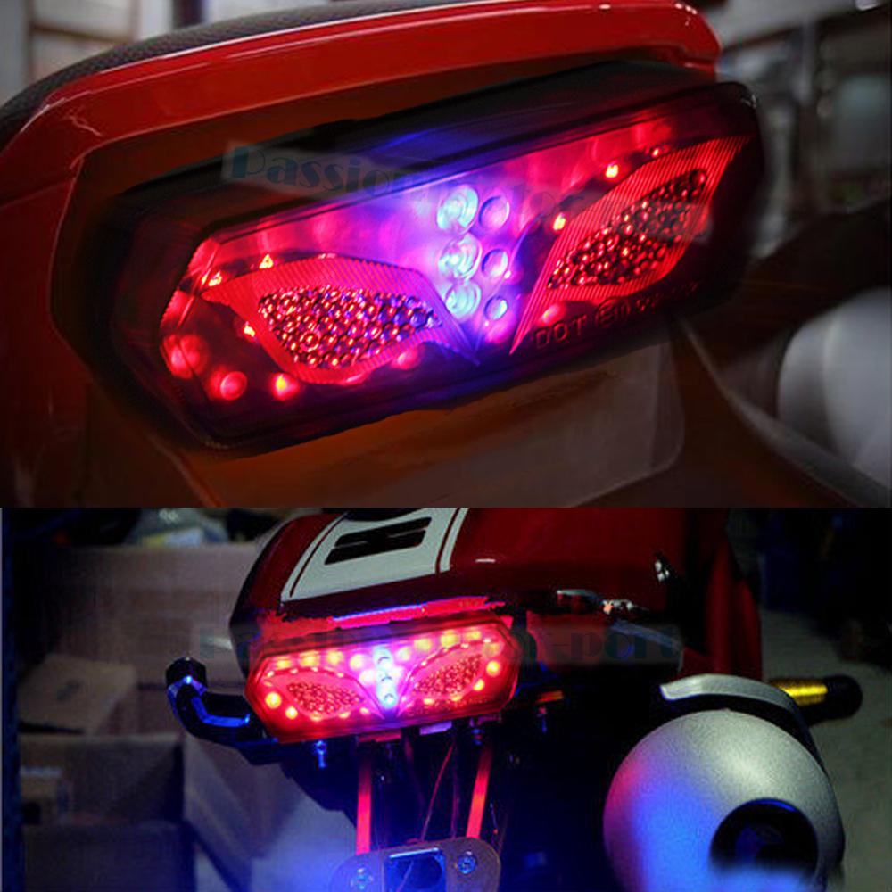 Motorcycle Integrated Rear Brake Led Turn Signal Tail