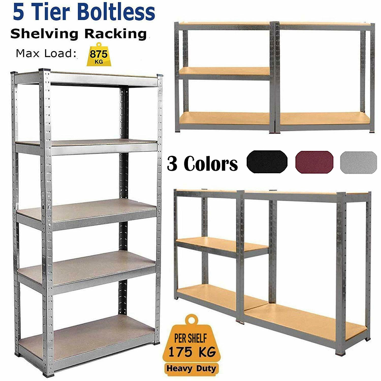 Racking Shelves Garage Shed Storage Shelving Units Car Industrial 875KG Capacity