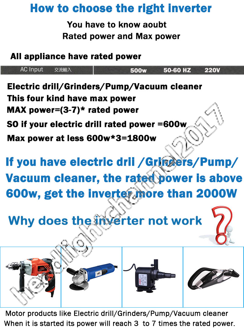 Power Inverter 4000w Peak 12v Dc To 110v 120v Ac Modified Sine Wave How Does An Work In Rv Please Note It Is Not Able Run Any Light Electrical Appliances Like Microwave