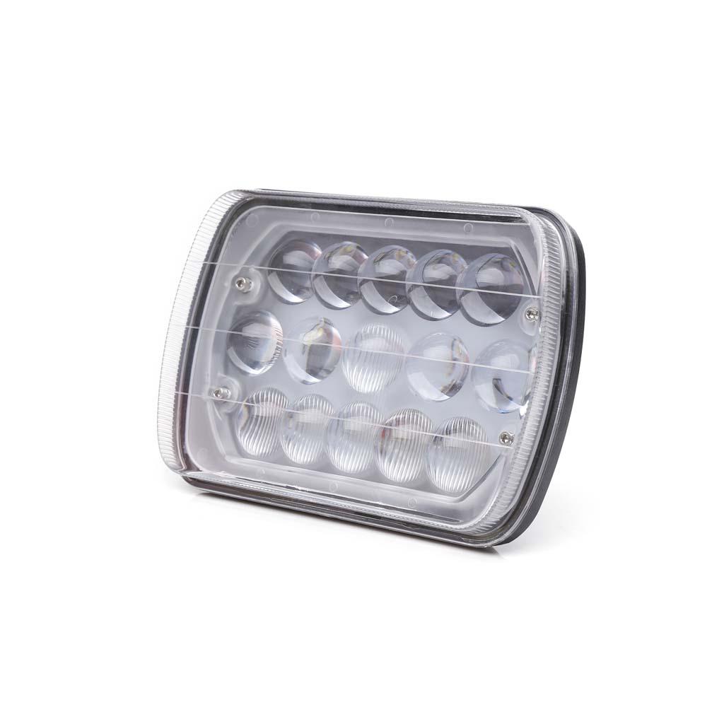 "PAIR 7X6/"" 5X7/"" 45W High Low Beam DRL CREE LED Headlight Bulb Clear Sealed H4 HID"
