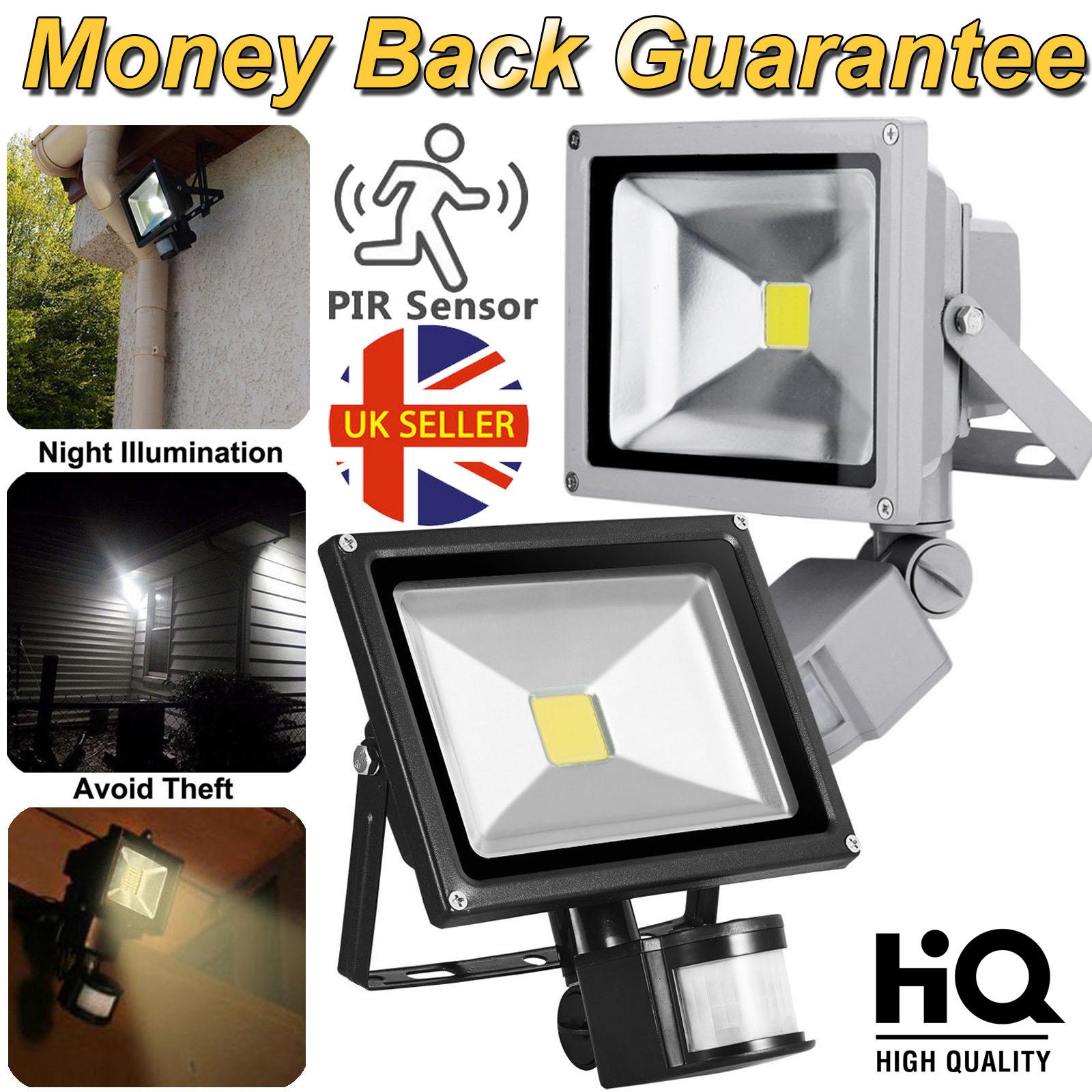 30W bright LED timer PIR Sensor Low Energy Outdoor Flood Security wall Light