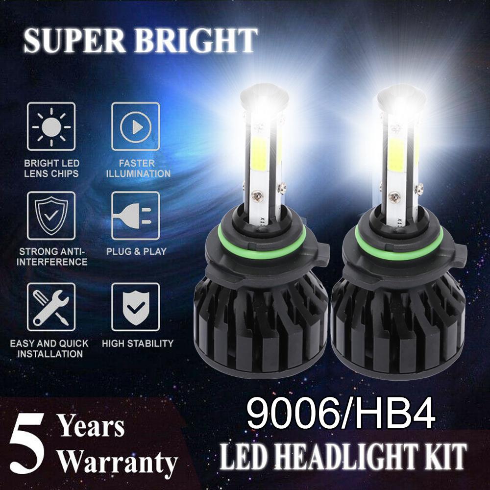 9006 HB4 3000W 450000LM LED Headlight HI//Lo Beam 6000K White Headbulb Fogbulbs