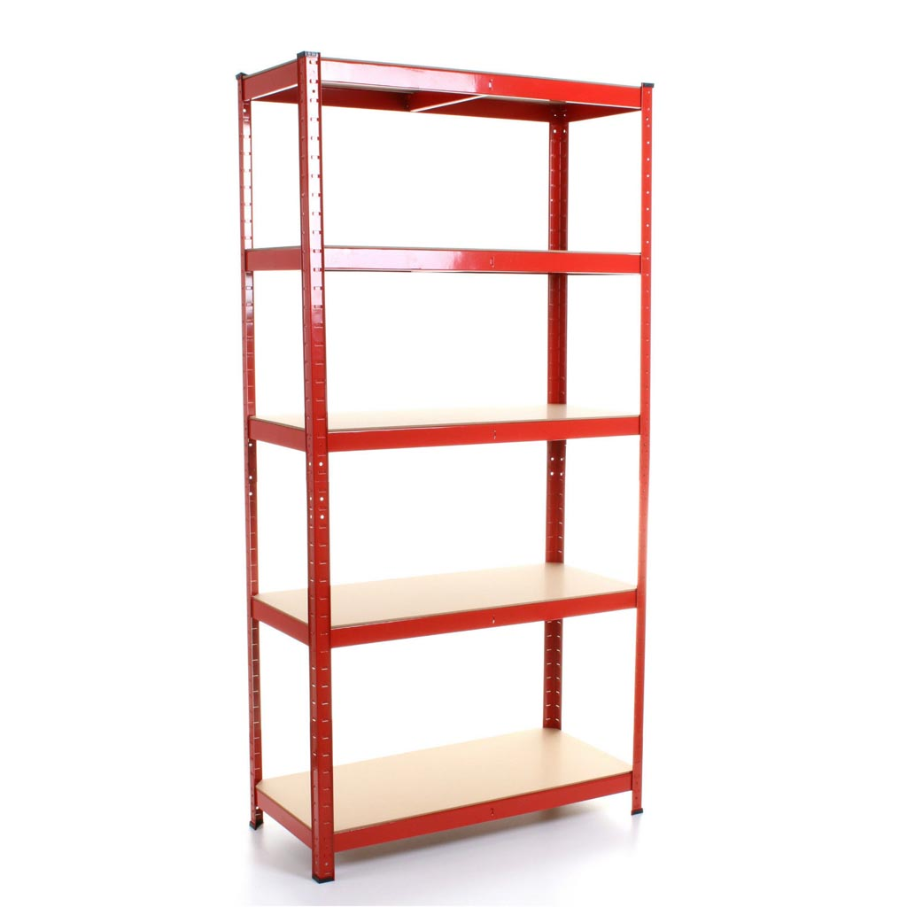 Heavy Duty Garage Storage Shelves 5 Tier Shelving Racking Bays Units 1.5M//1.8M