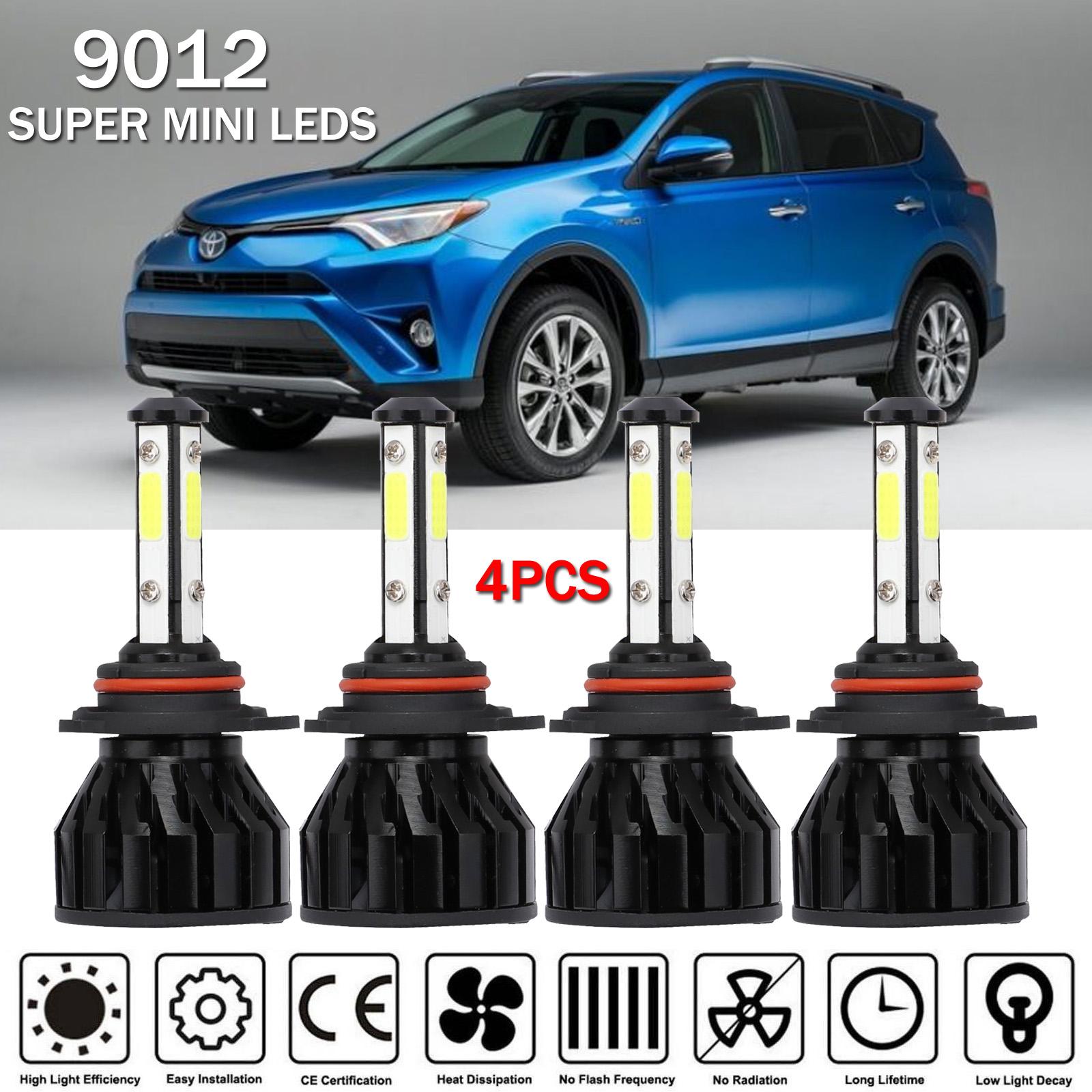 LED Headlight Bulbs Kit CREE 9012 for 2016-2017 Toyota RAV4 High/&Low Beam 6K
