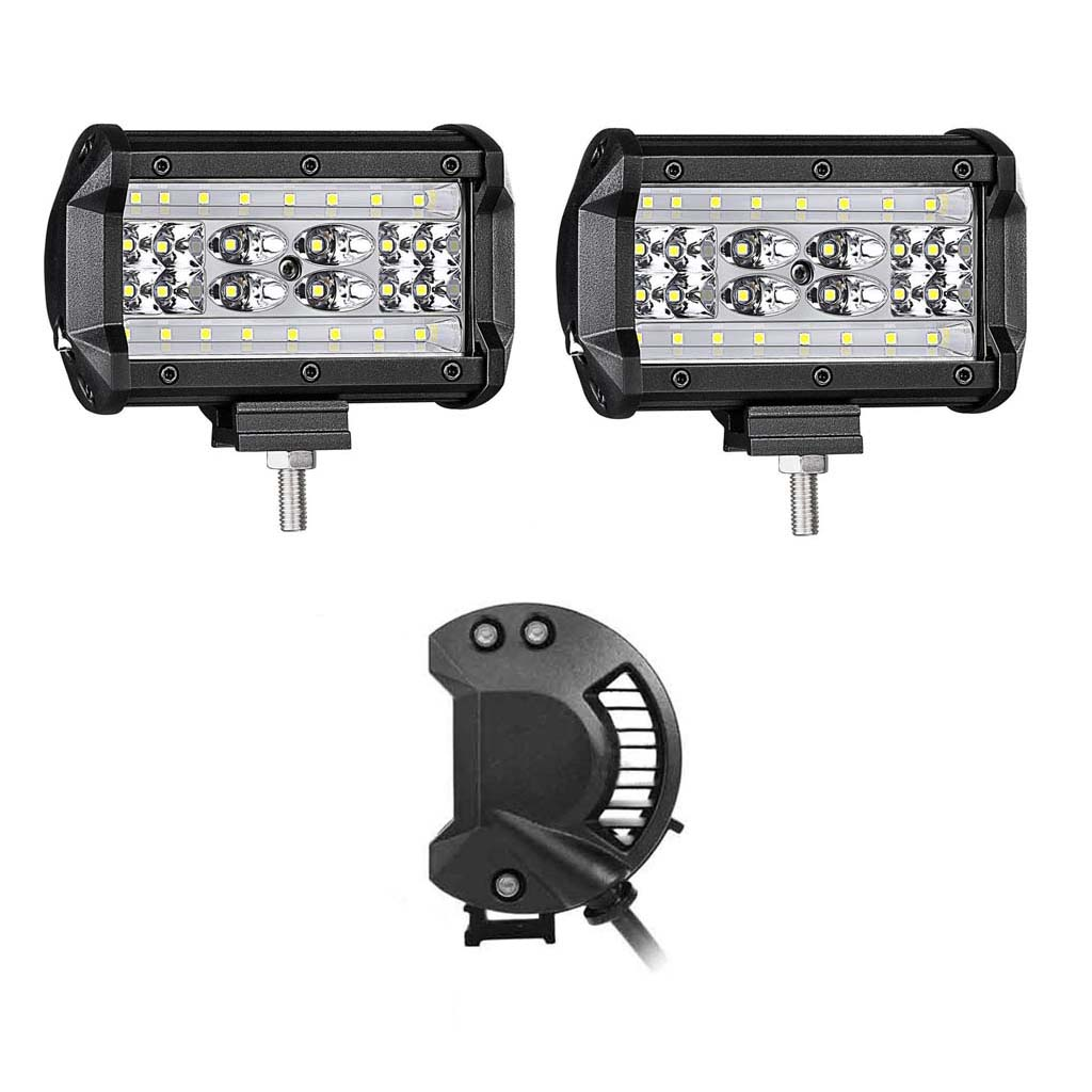 5inch 4 Row Led Car Work Light Bar Spot Flood Beam Suv Boat Wiring On A Tractor Lights Control Usa
