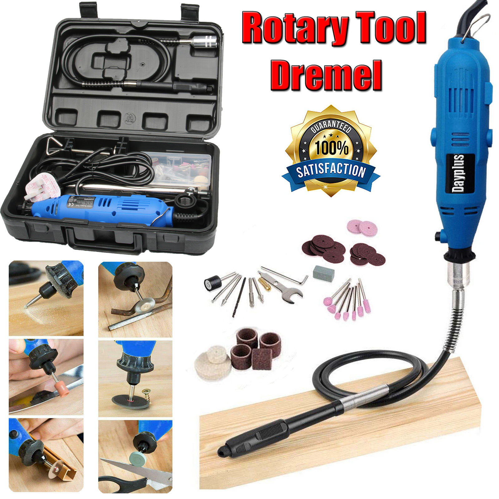 Dremel Rotary Tool Accessories Kit Set Tool Bits Saw Wire Brush Cutter Sanding