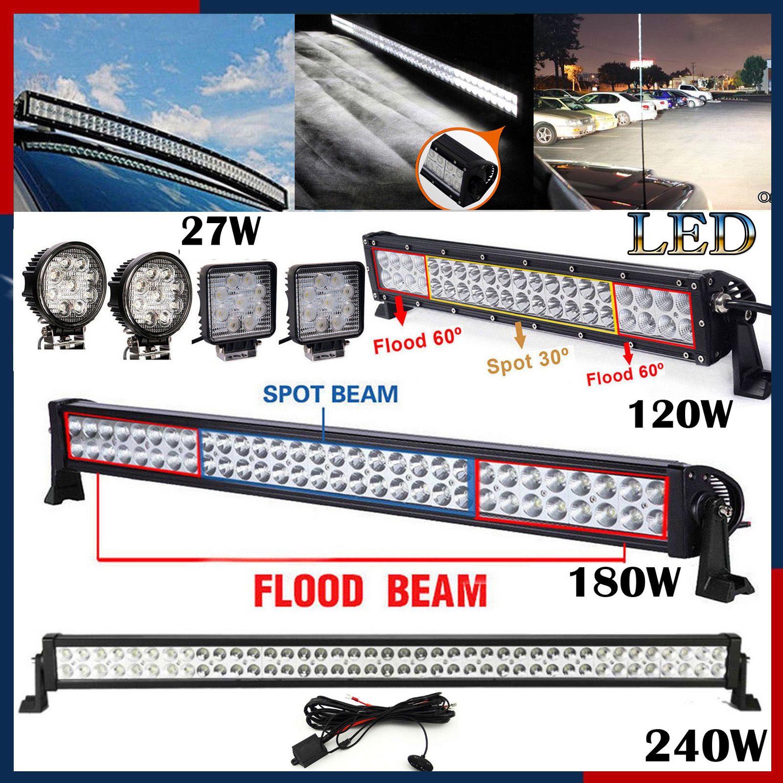 Flood light wiring diagram uk the best wiring diagram 2017 led work light bar 120w 180w 240w driving l wiring harness for swarovskicordoba Image collections